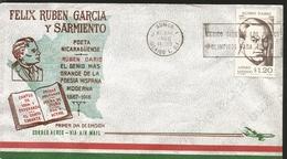 J) 1966 MEXICO, FELIX RUBEN GARCIA AND SARMIENTO, POET, RUBEN DARIO, THE BIGGEST GENIUS OF THE MODERN HISPANIC POETRY, W - Mexique