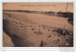 58)  COSNE  SUR LOIRE (NIÈVRE) LES BORDS DE LA LOIRE - LA PLAGE - Cosne Cours Sur Loire