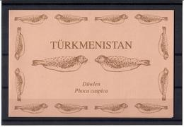 Turkmenistan .1993 WWF (Caspian Seals). Booklet Of 12  (2 Sets). Michel # 30-35 MH - Turkménistan