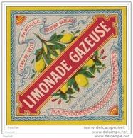Spécimen D ' Etiquette - N° 975 - LIMONADE GAZEUSE - FABRIQUE D ' EAU DE SELTZ - Imprimerie  Douin & Jouneau - Labels