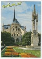 {78905} 75 Paris , Le Chevet De La Cathédrale Notre Dame , Vu Du Square Jean XXIII , La Fontaine Notre Dame - Notre Dame De Paris