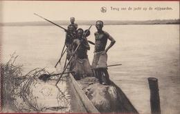Belgisch Congo Belge Kasai Nijlpaardenjacht Hunting Hunt Hippopotamus Chasse à L'hippopotame  Ethnique Ethnic Tribe - Congo Belge - Autres