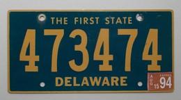Plaque D'immatriculation - USA - Etat Du Delaware - - Plaques D'immatriculation