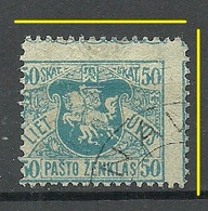 LITAUEN Lithuania 1919 Michel 35 ERROR Abart Perforation Swift Variety O - Litauen
