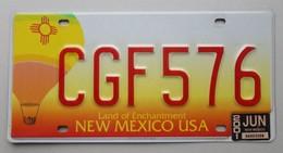 Plaque D'immatriculation - USA - Etat Du Nouveau Mexique - - Plaques D'immatriculation