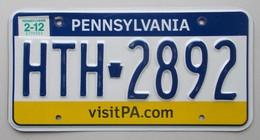 Plaque D'immatriculation - USA - Etat De Pennsylvanie - - Plaques D'immatriculation