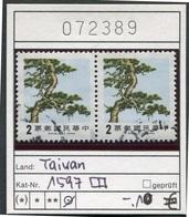 Taiwan - Formosa - Republic Of China - Michel 1597 Im Paar -  Oo Oblit. Used Gebruikt - 1945-... Republik China