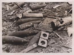MUNITIONSLAGER SOWJETS FOTO DE PRESSE WW2 WWII WORLD WAR 2 WELTKRIEG Aleman Deutchland - Guerra, Militares