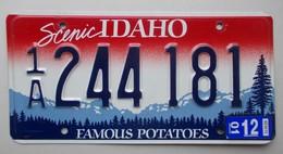 Plaque D'immatriculation - USA - Etat De L'Idaho - - Plaques D'immatriculation