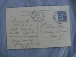 Saint Mariens A Chateauneuf L  Cachet Ambulant Convoyeur Poste Ferroviaire Sur Lettre - Marcophilie (Lettres)