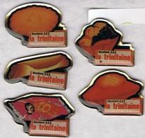 LA TRINITAINE - Les 5 Pin's De La Marque - (Biscuiterie, Spécialités Bretonnes) - Badges