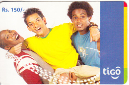 SRI LANKA - 3 Boys, Tigo Prepaid Card Rs.150, Used - Sri Lanka (Ceylon)
