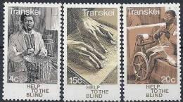1976 TRANSKEI Afrique Sud 30-32** Aveugles, Vannerie, Filage - Transkei