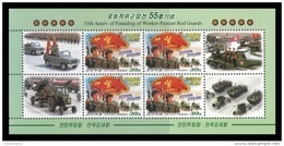 North Korea 2014 Mih. 6058 Worker-Peasant Red Guards. Tractors (M/S) MNH ** - Corée Du Nord