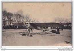 AVIATION - MONOPLAN AU MOMENT DU DEPART - (ANIMEE - AVION - EDITEUR LABOUCHE A TOULOUSE - 2 SCANS) - ....-1914: Précurseurs
