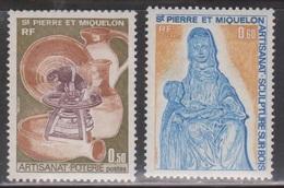 ST PIERRE & MIQUELON Scott # 441-2 Mint NH - Local Handicrafts - St.Pierre & Miquelon