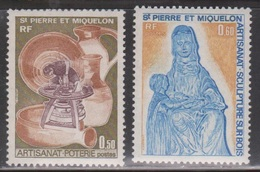ST PIERRE & MIQUELON Scott # 441-2 Mint NH - Local Handicrafts - Unused Stamps