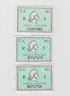 Série Timbres Fiscaux -  3 Timbres Amende Millésime 01 - 02 - 03 - Steuermarken