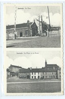 Jamioulx Gare La Place Et La Poste - Ham-sur-Heure-Nalinnes
