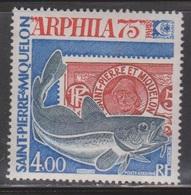 ST PIERRE & MIQUELON Scott # C57 Mint NH - ARPHILA 75, Paris - Unused Stamps