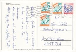 JUGOSLAWIEN 1988? - 4 Marken Auf Ak POREC - 1945-1992 Sozialistische Föderative Republik Jugoslawien