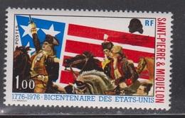 ST PIERRE & MIQUELON Scott # 447 Mint NH - American Revolution - Unused Stamps