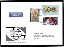 BRESIL BRASIL Enveloppe Cover CAXIAS DO SUL 07 05 2018 Train, Marine, Hélicoptère, Avion - Brazil