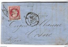 LAC Timbre N°17 - Càd Paris (SEINE) - 1858 - Postmark Collection (Covers)