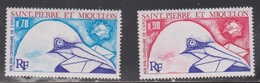 ST PIERRE & MIQUELON Scott # 432-3 Mint NH - Bird With Letter UPU Centenery - St.Pierre & Miquelon