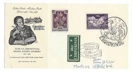 20932 - Christkindl  06.12.1962 Pour Autriche Sur Carte + Über Christkindl (attention Pli) - 1945-.... 2ème République