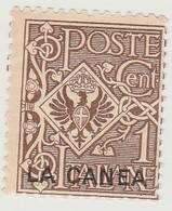 Créte Bureau Italien La Canée N° 3** 1c Brun - Crète