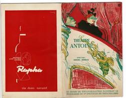 """Théâtre ANTOINE. Pièce De Théâtre"""" VU DU PONT"""" Couverture Illustrée Par TOULOUSE-LAUTREC Format: 13/21 Cm - Programmes"""