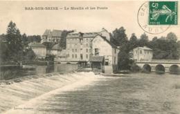 BAR SUR SEINE LE MOULIN ET LES PONTS - Bar-sur-Seine