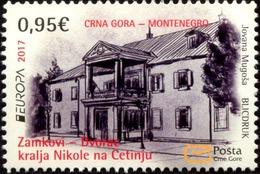 2017 EUROPA STAMPS, Palaces And Castles, Dvorac Kralja Nikole Na Cetinju, Montenegro, MNH - Montenegro