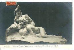 SALON DES ARTISTES FRANCAIS 1910 / AGONIE Par THOMAS CARTIER - Sculptures