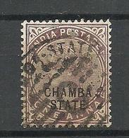 INDIA CHAMBA State 1886 Michel 2 O - Chamba