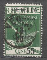 Fiume 1920 Carnaro Islands - Veglia (Krk) Mi#33 II Sassone#10 Small Letter Overprint, Caratteri Piccoli, Used - 8. WW I Occupation