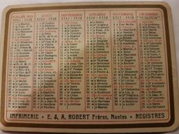 CALENDRIER 1912 IMPRIMERIE ROBERT FRERES - Calendriers