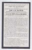 DP OORLOG OORLOGSSLACHTOFFER DE CUYPER ( MACHIELS ) HULPDOKTER ONDERLUITENANT 2e LINIE ° BRUGGE 1891 + ZARREN 1918 - Images Religieuses
