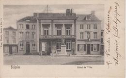 CPA Précurseur Soignies - Hôtel De Ville (avec Petite Animation) - Soignies