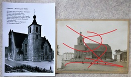 T19 / Rare Grande Ancienne Photo Animée - Anderlues Eglise Saint Médard - Photographe Joseph Polain - Plaatsen