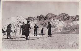 SKIEURS AU PORT D'ENVILARA (1941) - Andorre