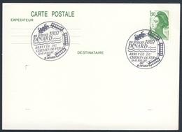 France Rep. Française 1987 Card / Karte / Carte - Dinard 10 Juillet 1887, Arrivee Chemin De Fer: Ligne Dinan - Dinard - Treinen