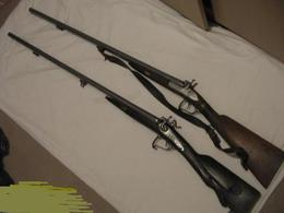 Lot 2xancien  Fusil Pouder Noire XIX - Casques & Coiffures