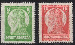 UNGHERIA - 1928 - Due Valori Nuovi MH: Yvert 417/418. - Ungheria