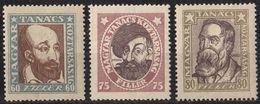 UNGHERIA - 1919 - Tre Valori Nuovi MH: Yvert 242/244. - Ungheria