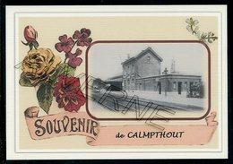 CALMPTHOUT  - ( KALMTHOUT ) .....  2 Cartes Souvenirs Gare ... Train  Creations Modernes Série Limitée - Kalmthout