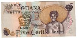 Ghana 5 Cedis 02/01/1973 S/N A/1 - Ghana