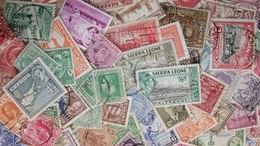 BID British EMPIRE KILOWARE Pre-QEII LazyBag OFF PAPER 100g (3½oz) Ca 1100 Stamps - Vrac (min 1000 Timbres)