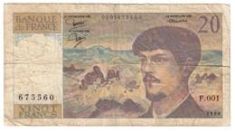 France 20 Francs 1980 S/N F001 - 20 F 1980-1997 ''Debussy''